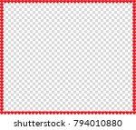 vector full frame border with... | Shutterstock .eps vector #794010880