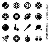 origami style icon set   ball... | Shutterstock .eps vector #794012260