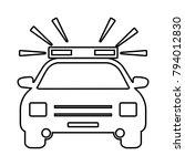 police car   vector symbol... | Shutterstock .eps vector #794012830
