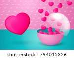 vector 3d realistic colorful... | Shutterstock .eps vector #794015326