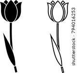 tulip icon  flower icon vector... | Shutterstock .eps vector #794016253