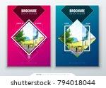 brochure template layout design.... | Shutterstock .eps vector #794018044