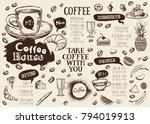 coffee house menu. restaurant... | Shutterstock .eps vector #794019913