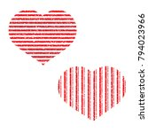 hearts. vector hearts set. hand ... | Shutterstock .eps vector #794023966