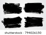 vector grunge shapes banners... | Shutterstock .eps vector #794026150