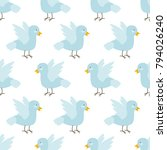 vector baby seamless pattern... | Shutterstock .eps vector #794026240