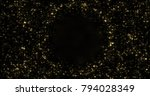 abstract gold particles and... | Shutterstock . vector #794028349