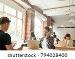 diverse people focused on work... | Shutterstock . vector #794028400