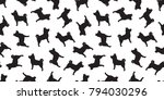 dog seamless pattern dog breed... | Shutterstock .eps vector #794030296