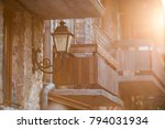 an old balcony and a retro...   Shutterstock . vector #794031934