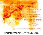 illustration of goddess of... | Shutterstock .eps vector #794032006