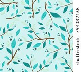 vector seamless endless pattern.... | Shutterstock .eps vector #794032168
