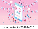 phone sale offer concept for... | Shutterstock .eps vector #794046613