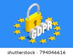 gdpr general data protection... | Shutterstock .eps vector #794046616