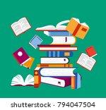 vector illustration of reading... | Shutterstock .eps vector #794047504