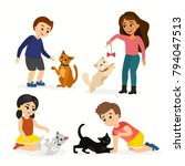 vector illustration set of... | Shutterstock .eps vector #794047513