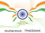 creative republic day... | Shutterstock .eps vector #794050444