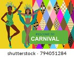 welcome to carnival card.... | Shutterstock .eps vector #794051284