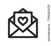 letter icon with heart sign ... | Shutterstock .eps vector #794062429