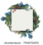 design banner with spring... | Shutterstock . vector #794070493
