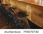 old empty chairs stand at the...   Shutterstock . vector #794070730
