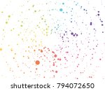 abstract rainbow dotted... | Shutterstock .eps vector #794072650