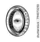 ornate mystic eye inside the... | Shutterstock .eps vector #794073250