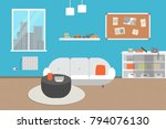 living room with furniture....   Shutterstock .eps vector #794076130