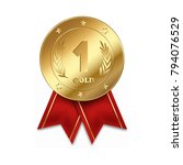 first place medal isolated on... | Shutterstock .eps vector #794076529