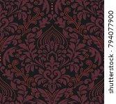 vector damask seamless pattern... | Shutterstock .eps vector #794077900