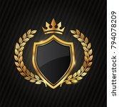premium luxury gold label... | Shutterstock .eps vector #794078209