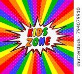 colorful letters bubble kids... | Shutterstock .eps vector #794079910