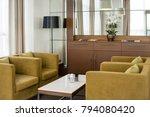beige classic sofa with...   Shutterstock . vector #794080420