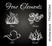 four elements. fire  water  air ... | Shutterstock .eps vector #794082544