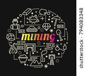 mining colorful gradient with... | Shutterstock .eps vector #794083348