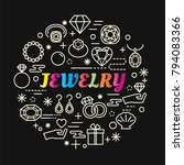 jewelry colorful gradient with... | Shutterstock .eps vector #794083366