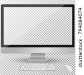 computer display isolated on a... | Shutterstock .eps vector #794084074
