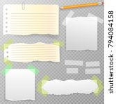 torn horizontal  note  notebook ... | Shutterstock .eps vector #794084158