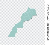 morocco map   high detailed... | Shutterstock .eps vector #794087110