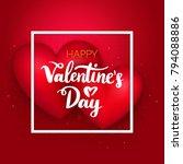 happy valentines day hearts....   Shutterstock .eps vector #794088886