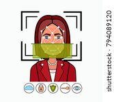 face recognition and...   Shutterstock .eps vector #794089120