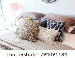 tribal pattern cushion setting...   Shutterstock . vector #794091184