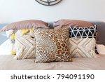 tribal pattern cushion setting...   Shutterstock . vector #794091190