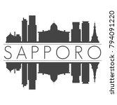 sapporo japan asia skyline... | Shutterstock .eps vector #794091220
