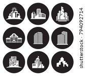 buildings icons set | Shutterstock .eps vector #794092714