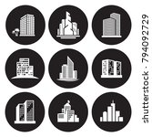 buildings icons set | Shutterstock .eps vector #794092729