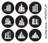 buildings icons set   Shutterstock .eps vector #794092729