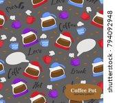 seamless background pattern of... | Shutterstock .eps vector #794092948