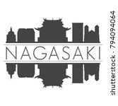 nagasaki japan asia skyline...   Shutterstock .eps vector #794094064