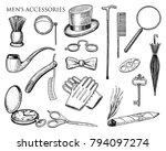 gentleman accessories. hipster... | Shutterstock .eps vector #794097274